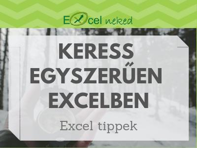 Excel keresés