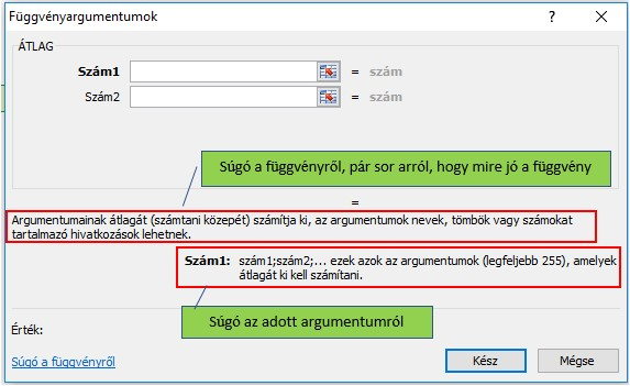 Excel függvények használata