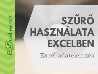 Excel szűrő