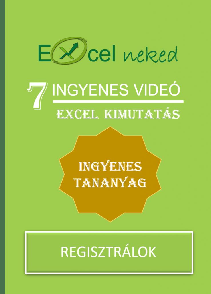 Inyenes Excel kimutatás tananyag