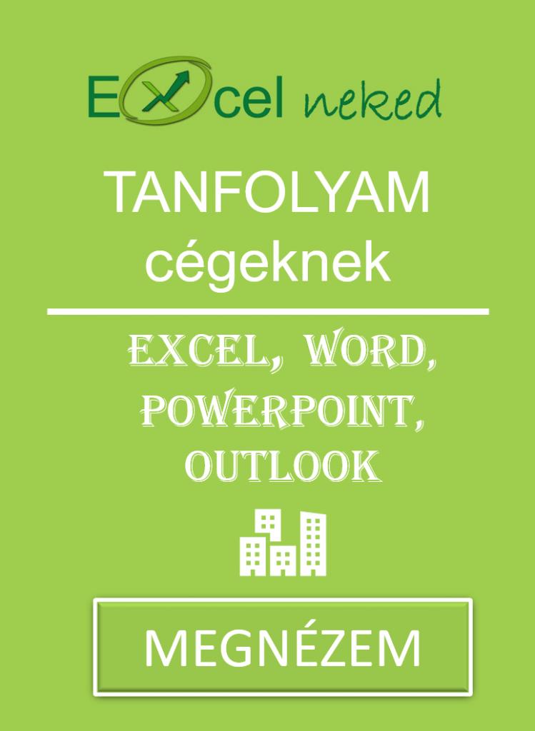Excel tanfolyam cégeknek