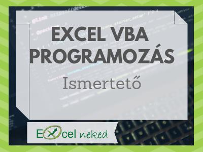 Excel VBA ismertető
