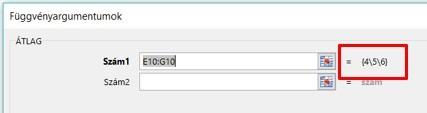 Excel tömbfüggvény