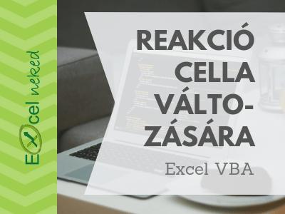 Excel VBA cella változása