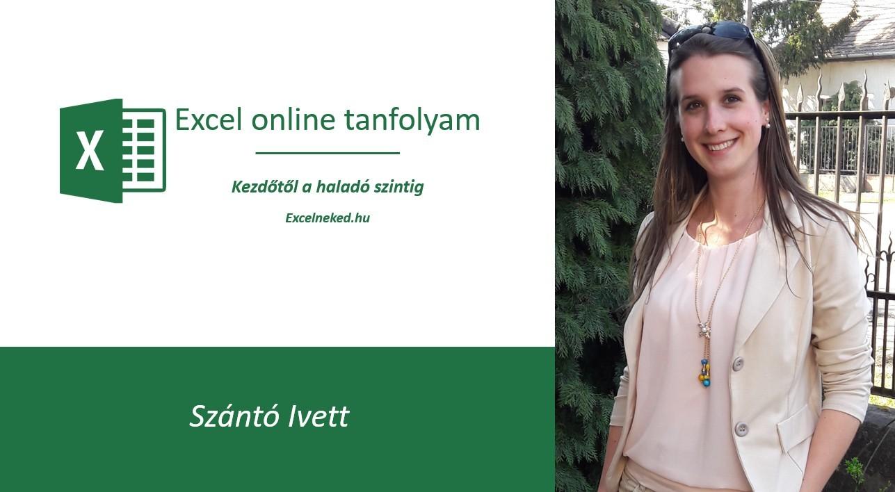Excelneked online Excel tanfolyam