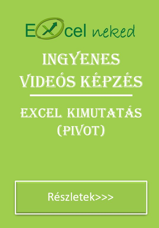 Ingyenes excel kimutatás tanfolyam