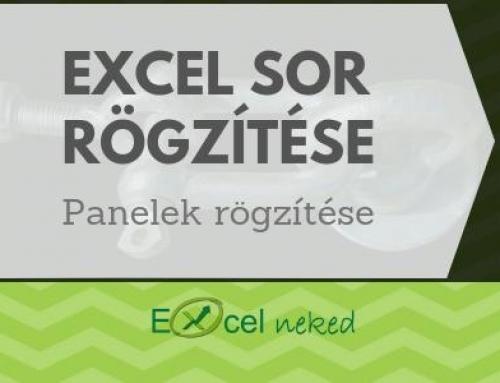 Excel sor rögzítése