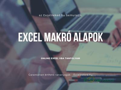 Excel makró alapok