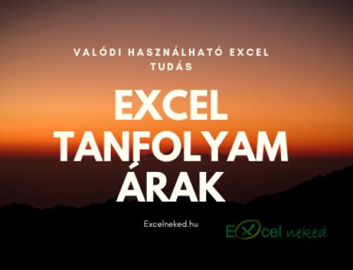 Excel tanfolyam árak