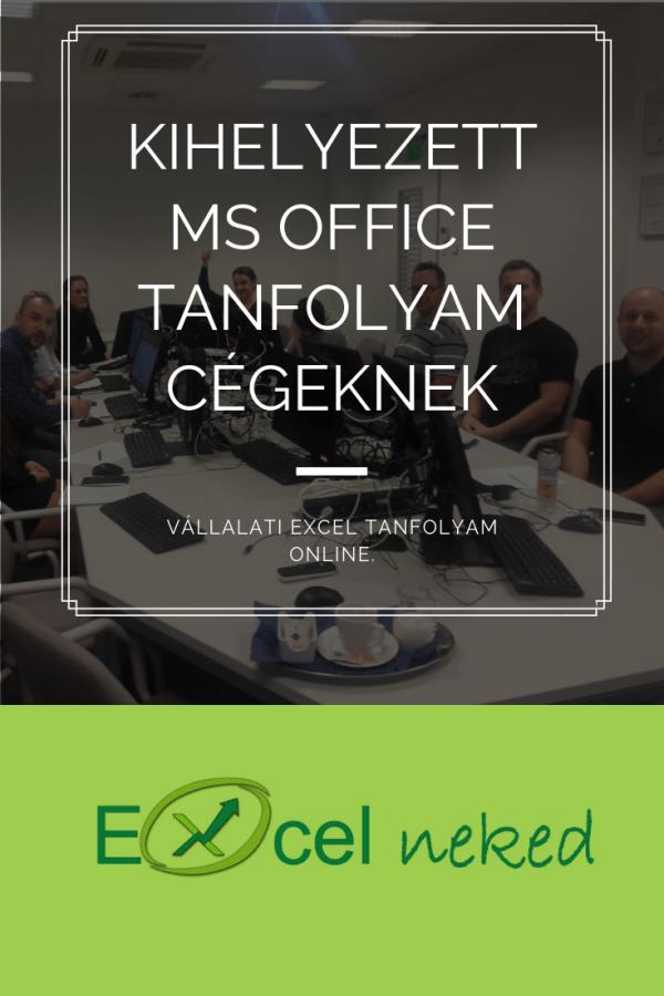 Kihelyezett Ms Office tanfolyam