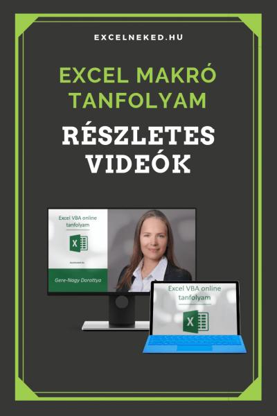 Excel VBA online tanfolyam
