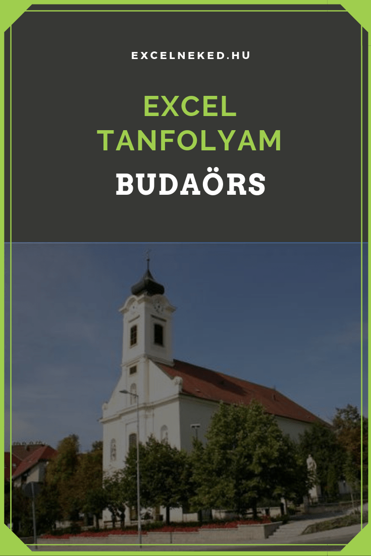 Excel tanfolyam Budaörs