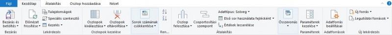 Adatok tisztítása az Excel Power Query-ben