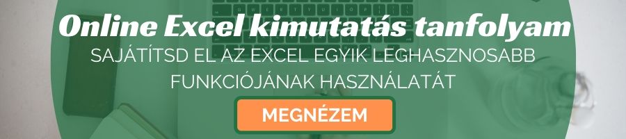 Online Excel kimutatás tanfolyam