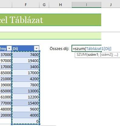 Excel táblázat hviatkozás