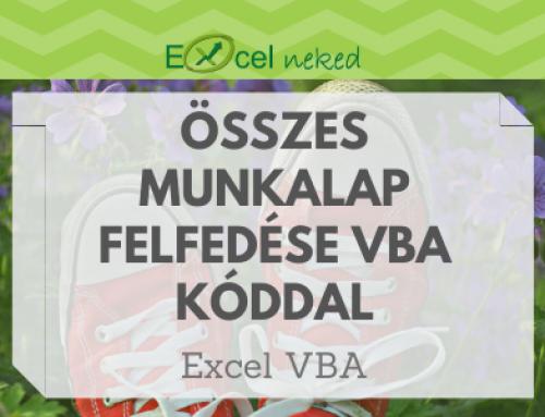 Összes Excel munkalap felfedése VBA kóddal
