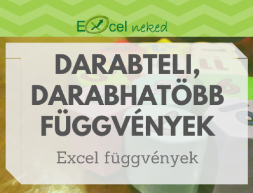 DARABTELI, DARABHATÖBB függvények