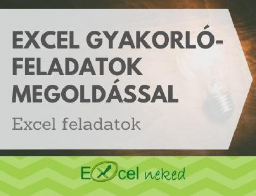 Excel gyakorlófeladatok megoldással