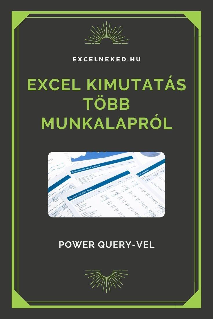 Excel kimutatás több munkalapról – Power Query-vel