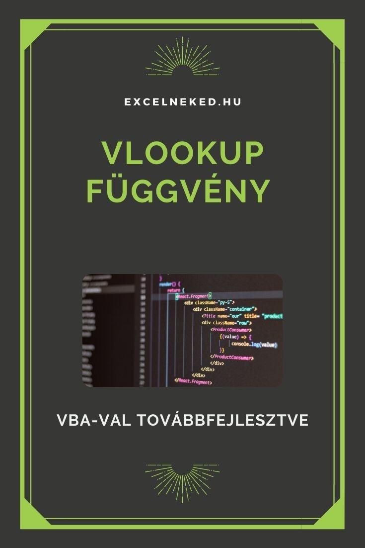 VLOOKUP függvény VBA-val továbbfejlesztve