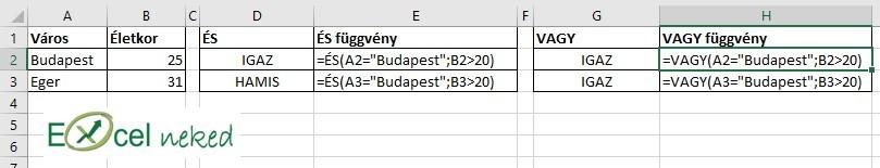 Excel függvények 1