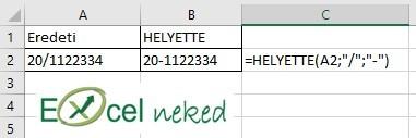Excel függvények helyette