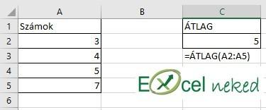 Excel függvények átlag