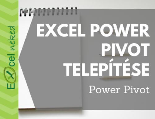 Excel Power Pivot elérése, telepítése