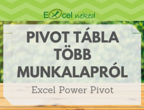 Pivot tábla több munkalapról – Excel Power Pivot
