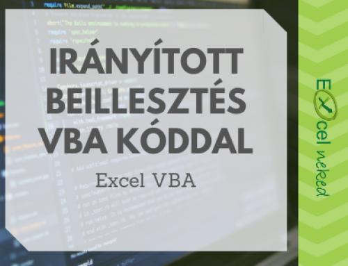 Irányított beillesztés VBA kóddal – Értékek és képletek