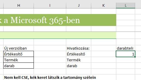 Tömfüggvény Excel