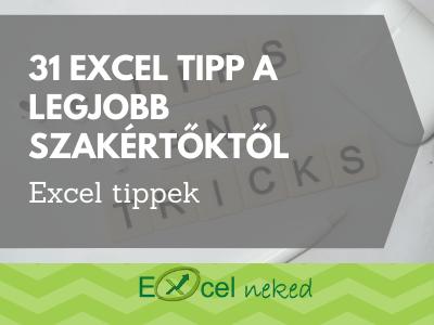 31 Excel tipp